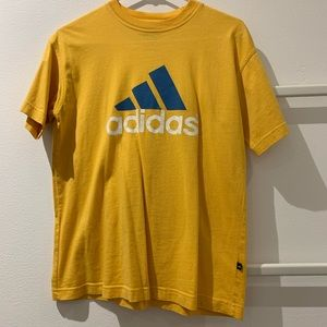 Yellow adidas tshirt